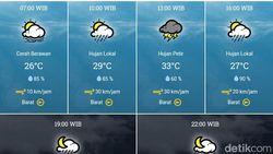 BMKG Sebut Hujan Disertai Petir Diperkirakan Landa Surabaya Hari Ini