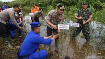 Polresta Banyuwangi Ajak Generasi Muda Sadar Lingkungan dengan Tanam Mangrove