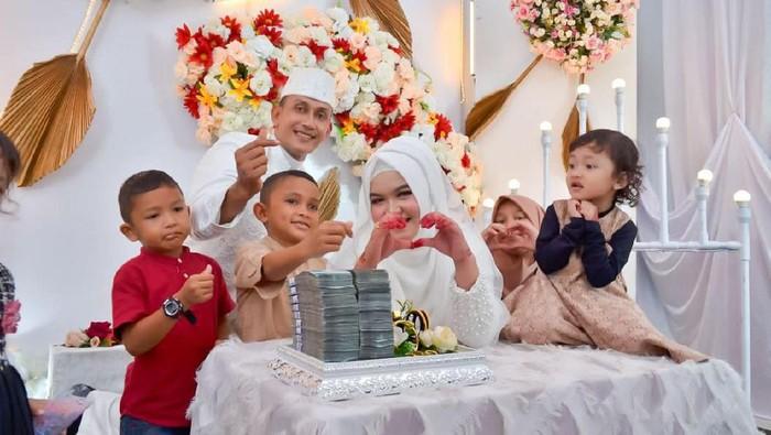 Polisi di Aceh yang sempat viral saat Pemilu 2019 menikahi adik iparnya dengan mahar fantastis sebagai balas budi (dok Humas Polres Aceh Utara)