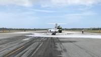 Edan! Pesawat Ini Selamat Meski Mendarat dengan Perutnya