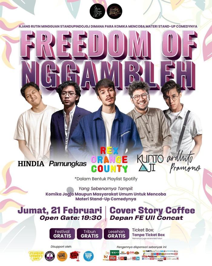 Poster jebakan Stand Up Comedy di Yogyakarta (Dok. panitia)