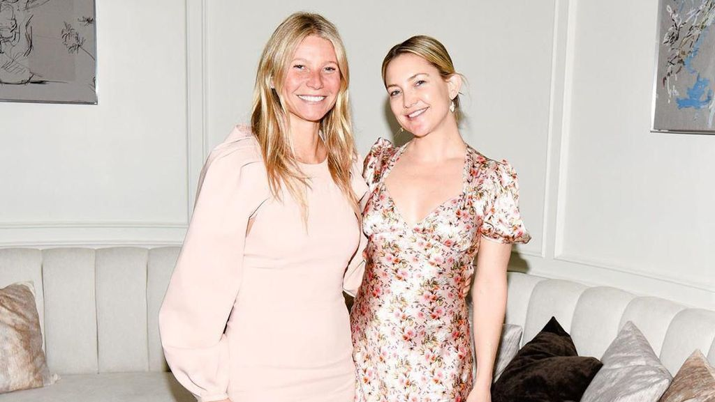 Wajah Polos Tanpa Makeup Para Artis di Pesta Unik Gwyneth Paltrow