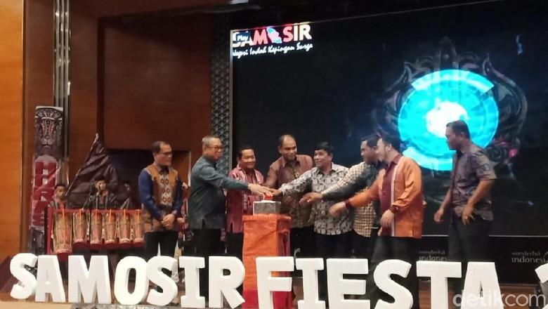 Peluncuran Horas Samosir Fiesta (HSF) 2020 di Kemenparekraf, Jakarta Pusat, Jumat (21/2/2020).