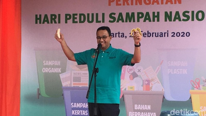 Gubernur DKI Jakarta Anies Baswedan di acara Hari Peduli Sampah Nasional (HPSN)