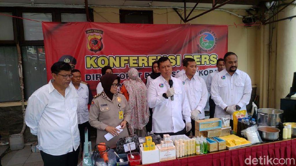 Bongkar Kosmetik Ilegal Made in Bandung, Polisi: Dijual di Shopee
