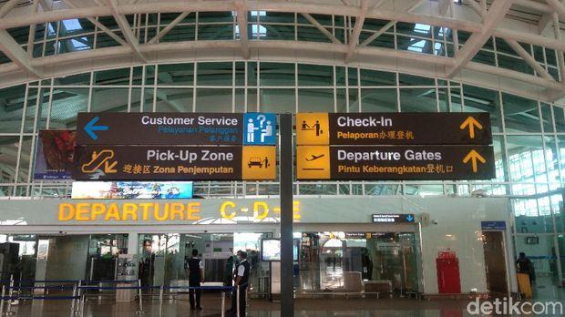 Bandara Ngurah Rai ditutup sementara. (Angga Riza/detikcom)
