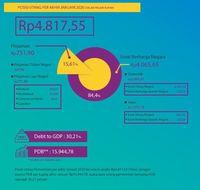Utang Pemerintah di Januari Rp 4.817 T, Setara 30,21% PDB