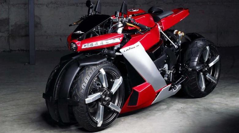 Motor baru Lazareth bermesin Yamaha R1