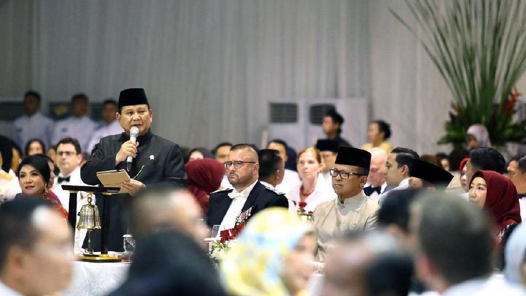 Jamu Atase Pertahanan Lintas Negara, Prabowo: 1.000 Teman Terlalu Sedikit