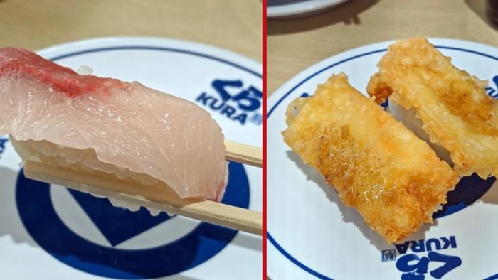 sushi unik di jepang, rasa ikan cokelat jeruk dan keju cheddar tempura