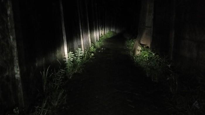 Gang sempit di samping kampus UIN Alauddin Makassar menjadi saksi bisu saat 10 mahasiswi menjadi korban begal payudara pada malam hari. Gang itu sepi dan gelap gulita lantaran minim lampu penerangan.