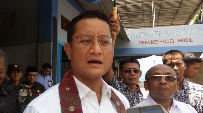 Menteri Sosial Juliari P Batubara di Magelang, Sabtu (22/2/2020).