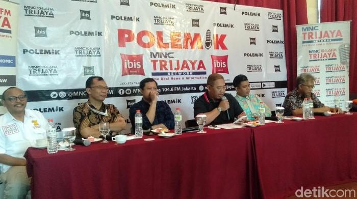 Anggota DPRD DKI F-PKS Dani Anwar di diskusi Polemik