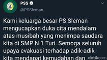 PSS Sleman Berduka Atas Musibah Hanyutnya Siswa SMPN 1 Turi