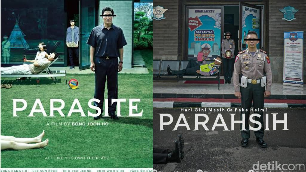 Viral, Poster Tertib Lalu Lintas Polresta Bandung Ala-ala Cover Film Parasite