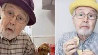 Lucu! Kakek 81 Tahun Ini Main TikTok Sambil Masak