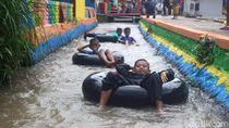 Saluran Irigasi Jadi Spot River Tubing Ala Sumedang