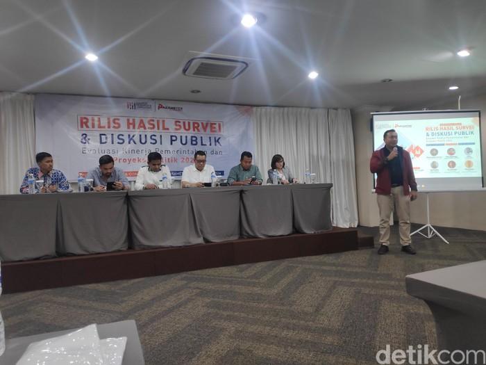 Politika Research Consulting (PRC) melakukan survei nasional atas kinerja 100 hari pemerintahan Jokowi-Maruf Amin.