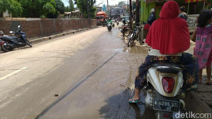 Jalan Kemang Utara IX, Jakarta Selatan (Jaksel) sempat terendam banjir (Sachril Agustin Berutu/detikcom)