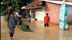 Sungai Citanduy Meluap, Ratusan Rumah di Tanjungsari Tasik Terendam Banjir