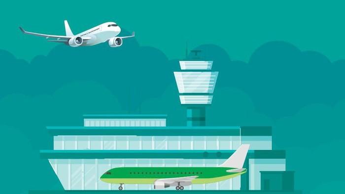 infografis bandara Indonesia