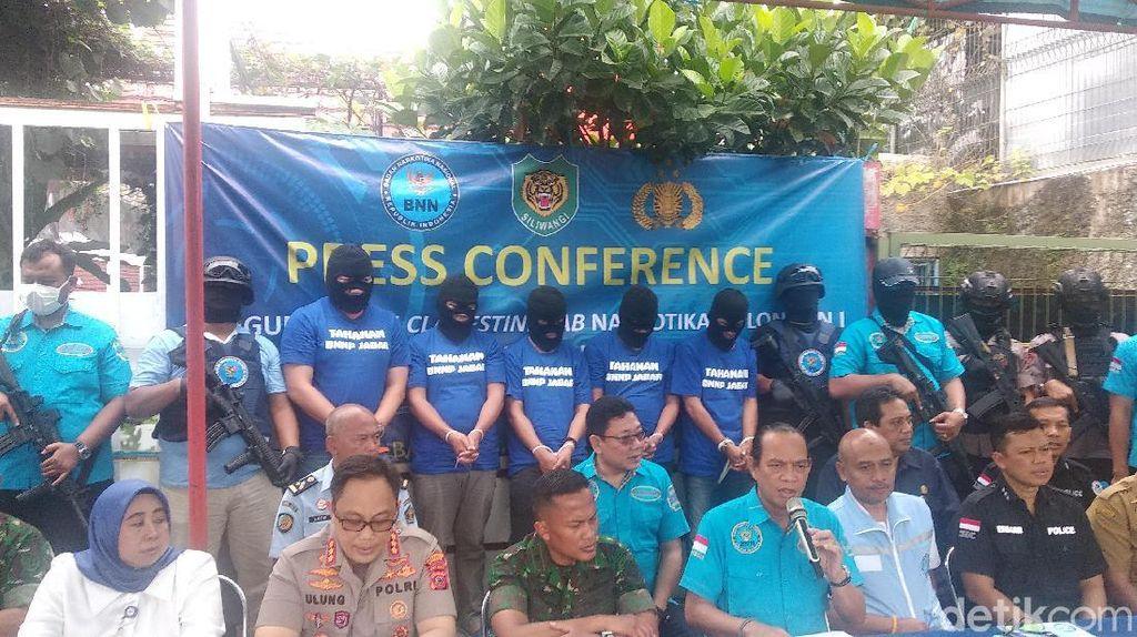BNN Ungkap Jenis Napza Hasil Produksi Pabrik Narkotika di Bandung