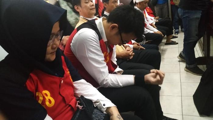 Sidang pembunuhan Pupung-Dana di PN Jaksel. (Foto: Bil Wahid/detikcom)