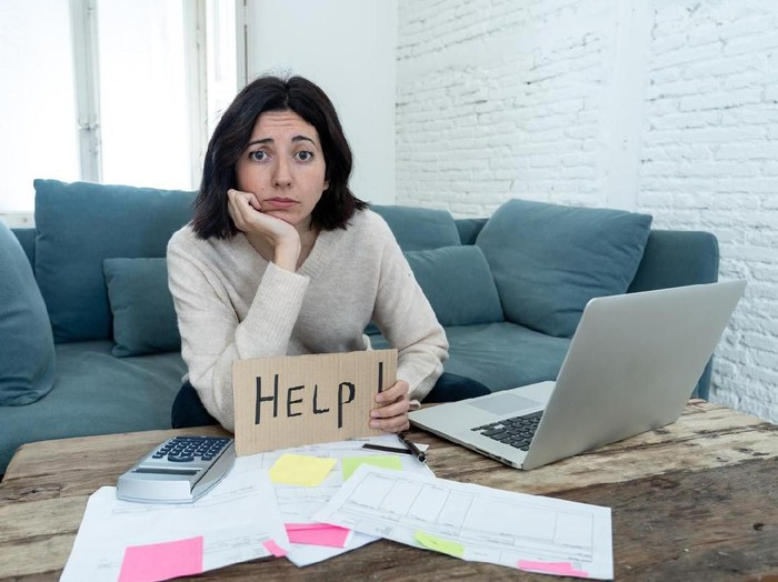 Ilustrasi keuangan atau utang