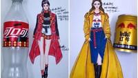 Desainer China Ini Bikin Model Baju Terinspirasi Minuman Kemasan
