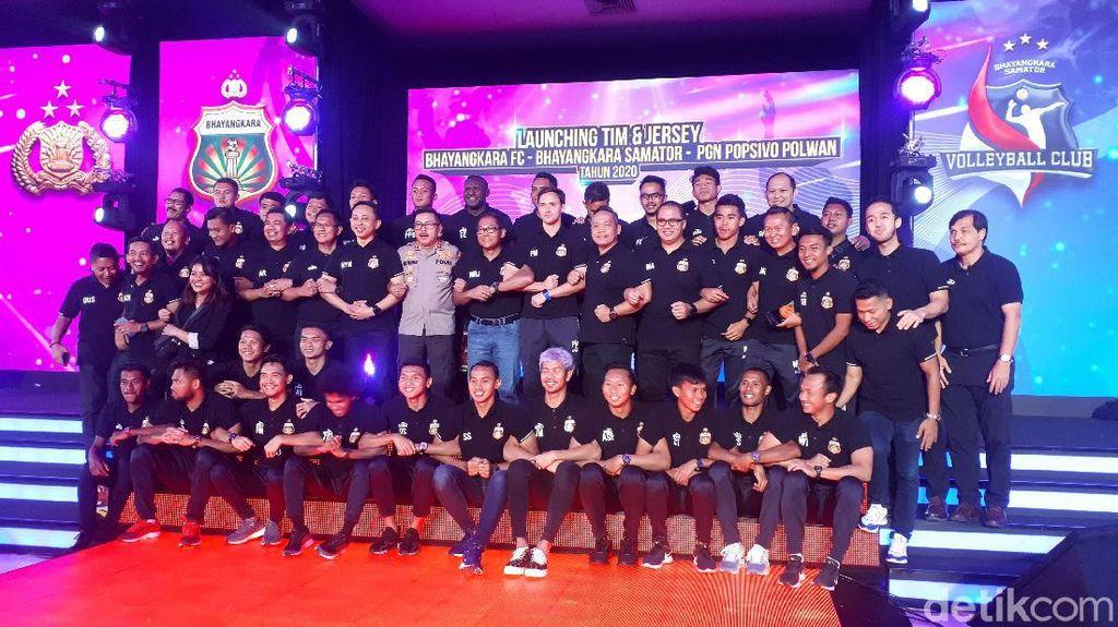 Tim Bhayangkara FC Diperkenalkan, Targetnya Juara Liga 1 2020