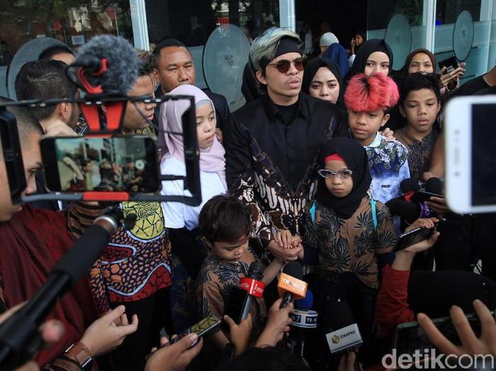 Gen Halilintar saat ditemui di PN Jakarta Pusat.