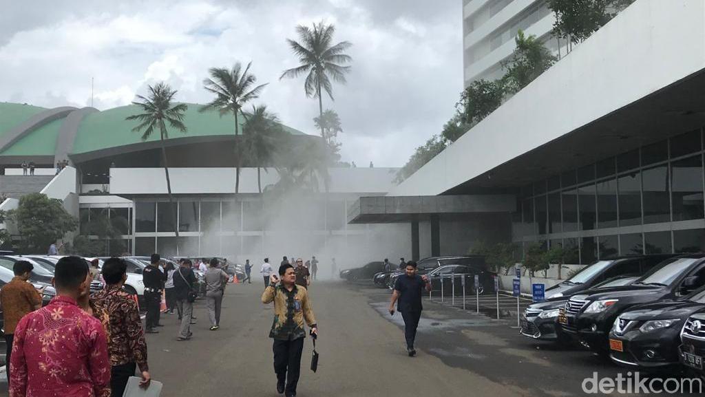 Polisi: Asap di Gedung Nusantara III DPR Berasal dari Lantai 2