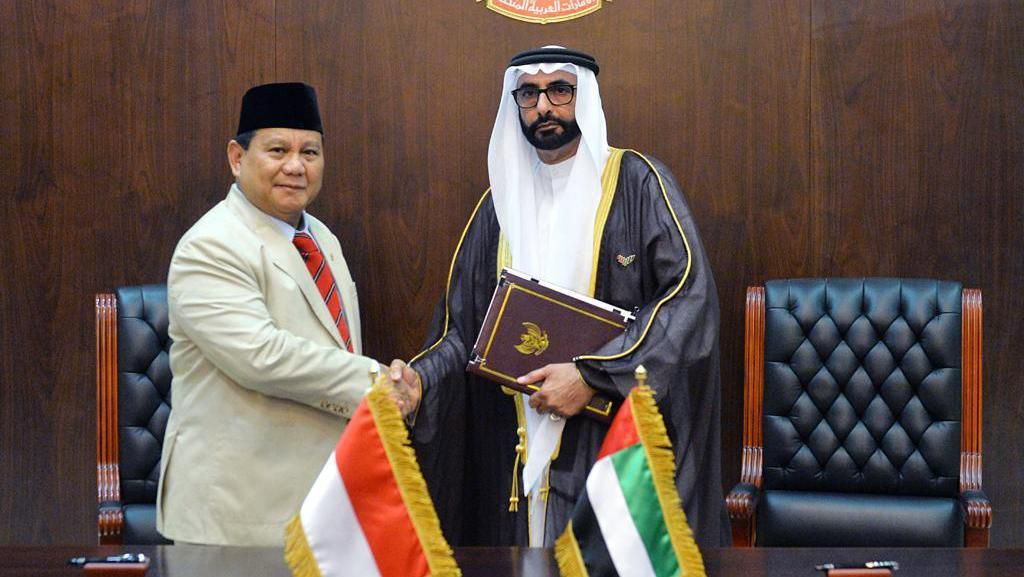Prabowo-Menhan UEA Teken Perjanjian Kerja Sama di Bidang Pertahanan