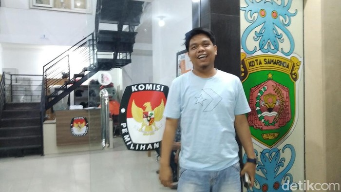 Ketua KPU Samarinda kehilangan mobilnya saat lembur kerja (Suriyatman/detikcom)