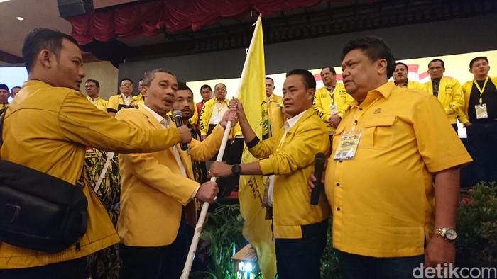 Yasyir Ridho Lubis terpilih menjadi ketua Partai Golkar Sumatera Utara (Sumut) periode 2020-2025 (Ahmad Arfah/detikcom)
