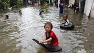 Sudah 2 Hari Banjir Rawa Terate Belum Surut