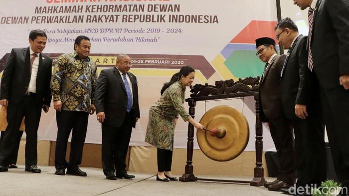 Ketua Dewan Permusyawaratan Rakyat (DPR) RI Puan Maharani resmi membuka seminar nasional MKD di Jakarta.