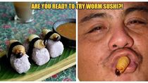 5 Sushi Unik, Diberi Topping Ulat Sagu hingga Sushi Salmon 2,5 Kg!