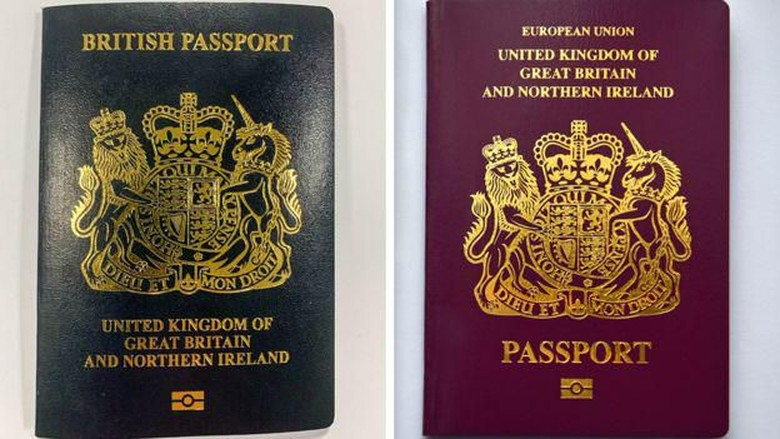 Paspor Inggris.