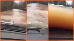 Isuzu Dibawa Terabas Banjir Setinggi Kaca Mobil, Berhasil Selamat!