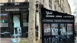Jadi Sasaran Rasis, Resto Jepang di Paris Dirusak dengan Grafiti Coronavirus