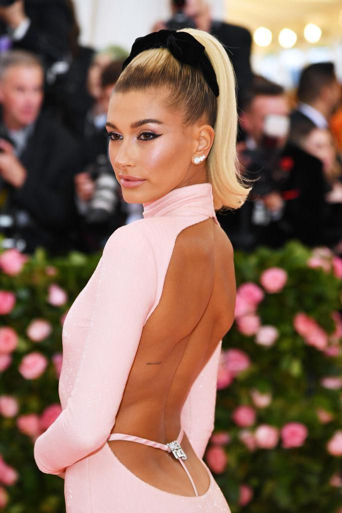 NEW YORK, NEW YORK - MAY 06: Hailey Bieber attends The 2019 Met Gala Celebrating Camp: Notes on Fashion at Metropolitan Museum of Art on May 06, 2019 in New York City. (Photo by Dimitrios Kambouris/Getty Images for The Met Museum/Vogue)