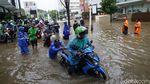 Kemang Raya Kembali Terendam Banjir