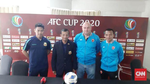 Konferensi pers jelang laga PSM Makassar vs Shan United. (