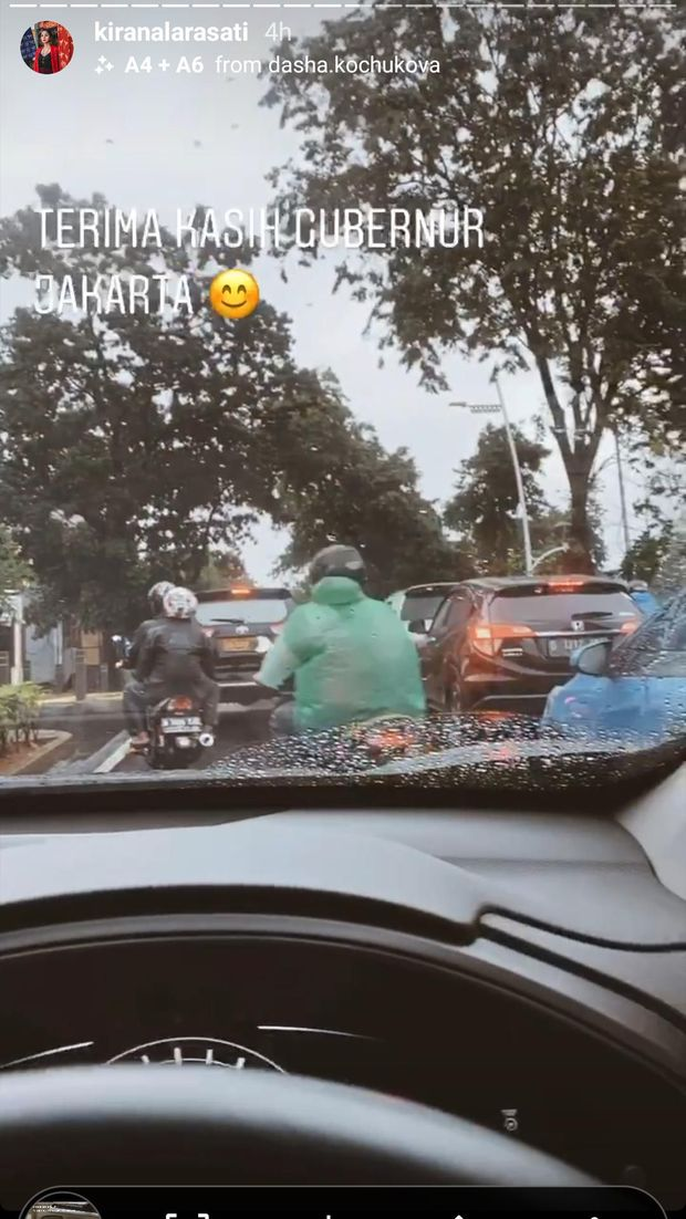 Banjir di Mana-mana, Kirana Larasati: Terima Kasih Gubernur Jakarta