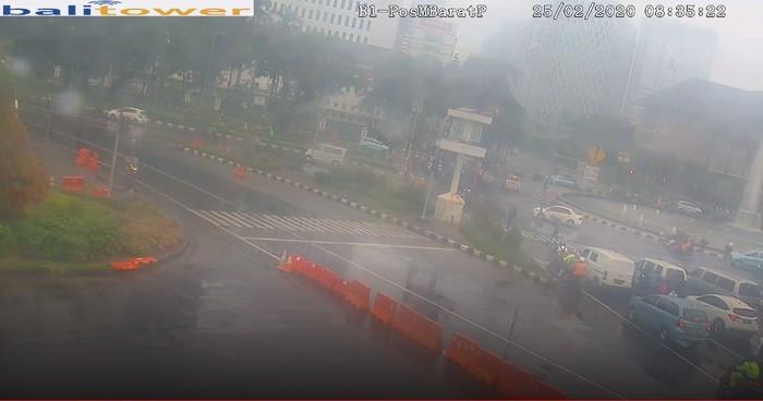 Bundaran Patung Kuda pagi hari 25 Februari 2020. (CCTV Bali TV)