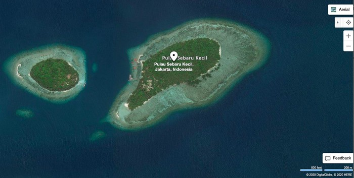 Pulau Sebaru Kecil (Bing Maps)