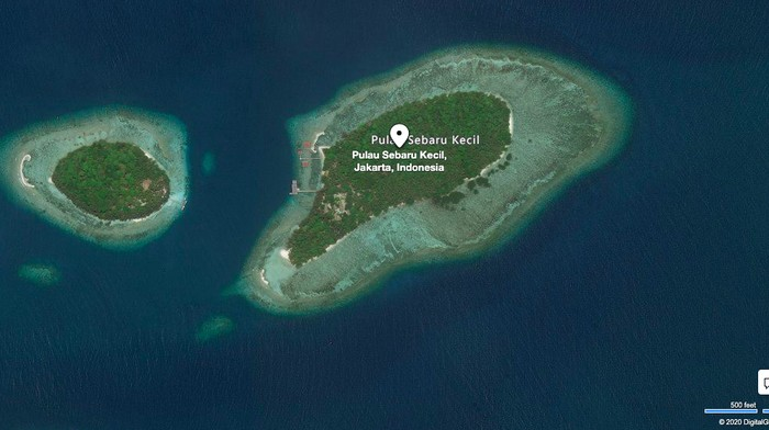 Hasil gambar untuk pulau sebaru kecil