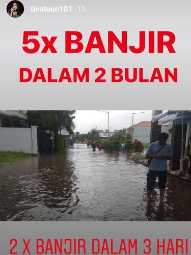Sindiran Para Artis di Tengah Banjir Landa Jakarta