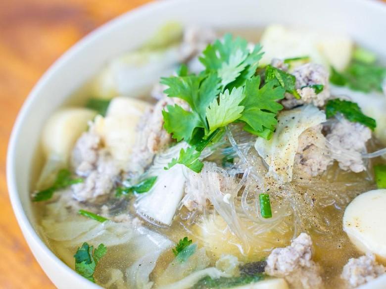 Resep Sup : Sup Tofu Ayam Cincang